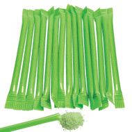 Sugar Candy Straws Lime Green 240 Count Green Apple Flavor