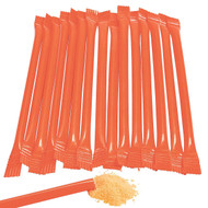 Sugar Candy Straws Orange 240 Count Orange Flavor