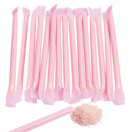 Sugar Candy Straws Light Pink 240 Count Strawberry Flavor