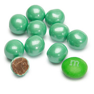 Sixlets Candy Coated Chocolate Shimmer Turquoise 2 Pounds