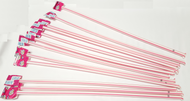 "Pink Giant Pixy Stix 16"" Long 12 units"