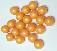 Gumballs Glimmer Orange (1/2 inch) 2 Pounds