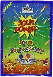 Sour Power Sour Popping Candy Quattro/ 4 Flavor 18 Pouches