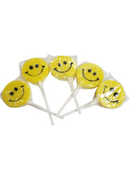 Teeny Happy face Yellow Lollipop 12 Count