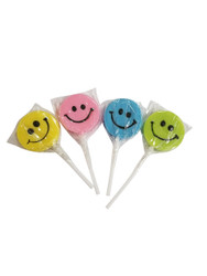 Teeny Happy face Assorted Lollipop 12 Count