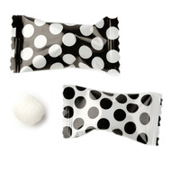 Big Dotted Black/white Buttermints  100 Count