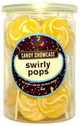 Swirly Round Pops Gold 24 Count