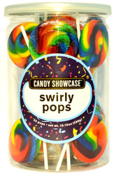 Swirly Round Pops Rainbow 24 Count