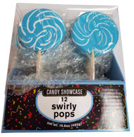 Swirly 3 Inch Round Pops Blue 12 Count
