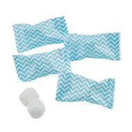 Chevron Caribbean Blue/white Buttermints 100 Count