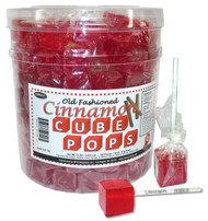 Cube Pops Red (Cinnamon) 100 Count
