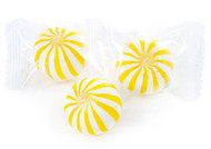 Yellow and White Banana Crazy Mini Candy Balls 2 LBS