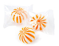 Orange and White Orange Crazy Mini Candy Balls 2 LBS