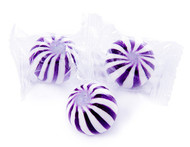 Purple and White Grape Crazy Mini Candy Balls 2 LBS