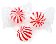 Red and White Cherry Crazy Mini Candy Balls 2 LBS