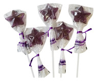 Bendy Pop Long Star Shaped Purple Lollipop