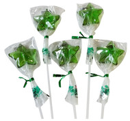 Bendy Pop Long Star Shaped Green Lollipop