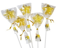 Bendy Pop Long Star Shaped Yellow Lollipop