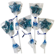 Bendy Pop Long Star Shaped Blue Lollipop