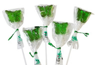 Bendy Pop Long Butterfly Shaped Green Lollipop