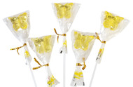 Bendy Pop Long Butterfly Shaped Yellow Lollipop