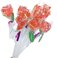 Bendy Pop Long Rose Shaped Pink Lollipop