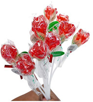 Bendy Pop Long Rose Shaped Red Lollipop