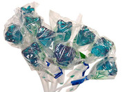 Bendy Pop Long Rose Shaped Blue Lollipop