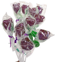 Bendy Pop Long Rose Shaped Purple Lollipop