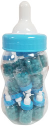 Clearance - HUGE Jelly Beans Bottle With 20 Count Mini Baby Bottle Favors Pre Filled With Blue Jelly Beans-Ready Made Party Favors