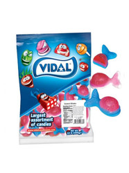 Vidal Red and Blue Gummi Whales. 2.2lb Bag