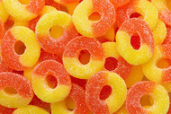 Gummy Peach Rings - 4.5 Pounds