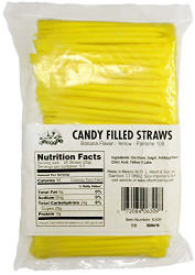 Albert's Splash Candy Filled Straws, Yellow, Banana Flavor, 240 Pieces