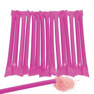 Albert's Splash Candy Filled Straws, Hot Pink, Bubblegum Flavor, 240 Pieces