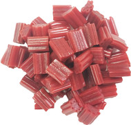 CLEARANCE - Twizzlers Nibs Hard N Chewy Cherry Flavored BULK Candy 2 Pounds Licorice Red Candy