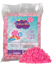 Pink Heart Shaped Candy 2 Pounds Bulk Bag-Pressed Dextrose Candy For Valentines Day or Baby Showers