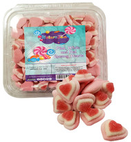 CLEARANCE - Pink & Red Gummy Valentines Hearts Candy 2.2 Pounds - Heart Shaped Candy for Valentines Day-In a Resealable Container