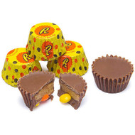 Reese's Peanut Butter Cups Miniatures Stuffed w/ Reese's Pieces  Wrapped - 2.25 Pounds - Resealable Container