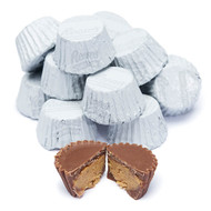 Reese's Peanut Butter Cups Mini White Wrapped - 2 Pounds - Resealable Container