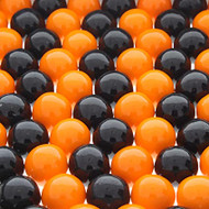 Clearance - Halloween Mix Gumball Orange & Black 2.9 Pounds Bulk Bag