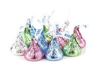 Hershey's Kisses Assorted Pastel Colors (Milk Chocolate) 2 Pounds