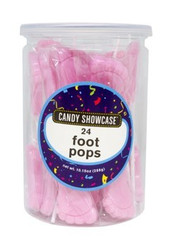 Pink Foot Pops 24 Count