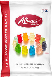 Albanese Assorted 12 Flavor Gummi Bears - 2.5 Pound