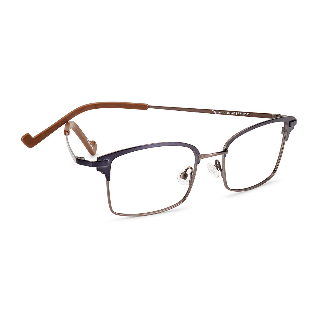 bdb7f9de1cf9 Leslie Flexible Metal Reading Glasses for Men in 2 Color Choices by ...