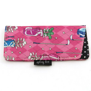 """Argyle Pink Golf"" Fabric Case (Free with Rose Tortoise)"