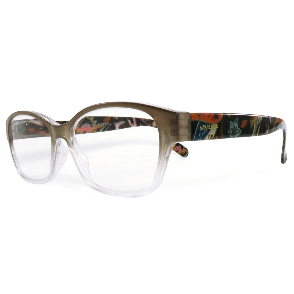 23d306e30e0a Home · Womens Reading Glasses  Max Edition Designer Reading Glasses ME8361.  Green Paisley. Loading zoom