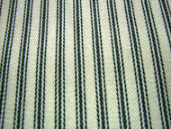 French Ticking Fabric Black Cream  Cotton 18 metres