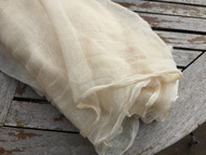 COTTON SCRIM GAUZE CREAM MUSLIN FABRIC SLIGHT SECONDS, WEAVE FAULTS. IDEAL FOR WET FELTING  129cm x 6 MTRS
