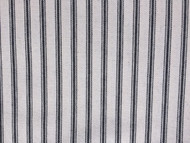 BLACK WHITE HERRINGBONE  COTTON TICKING STRIPE FABRIC P/MTR