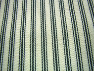 Ticking Fabric Black Cream 15mtrs